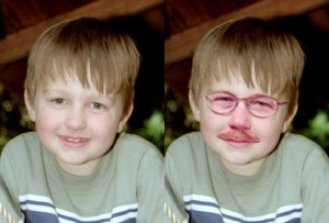 Rick had a mustache at an early age